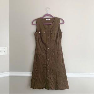 Calvin Klein Olive Utility Dress